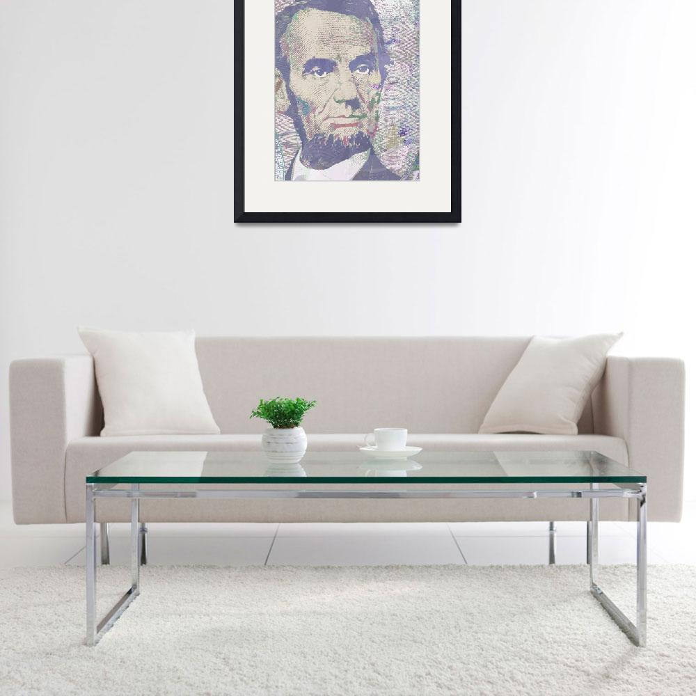 """Lincoln Reimagined Vertical&quot  (2014) by RubinoFineArt"