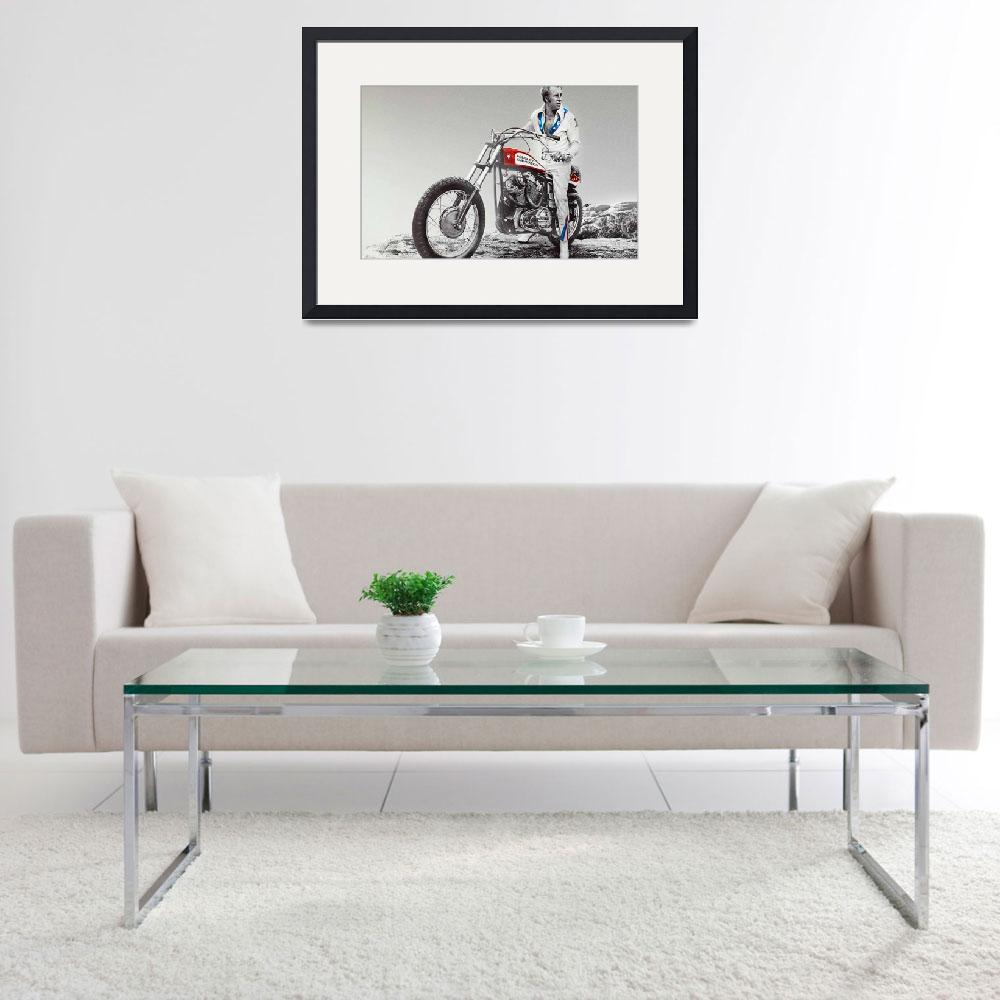 """Evel Knievel Painting Spot Color Large&quot  by RubinoFineArt"