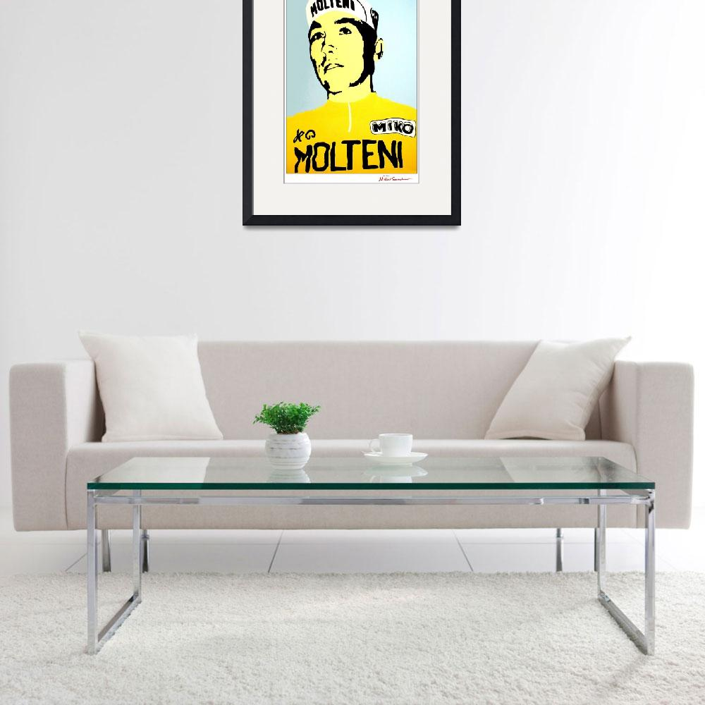 """Eddy Merckx yellow jersey&quot  by MisterSpeaker"