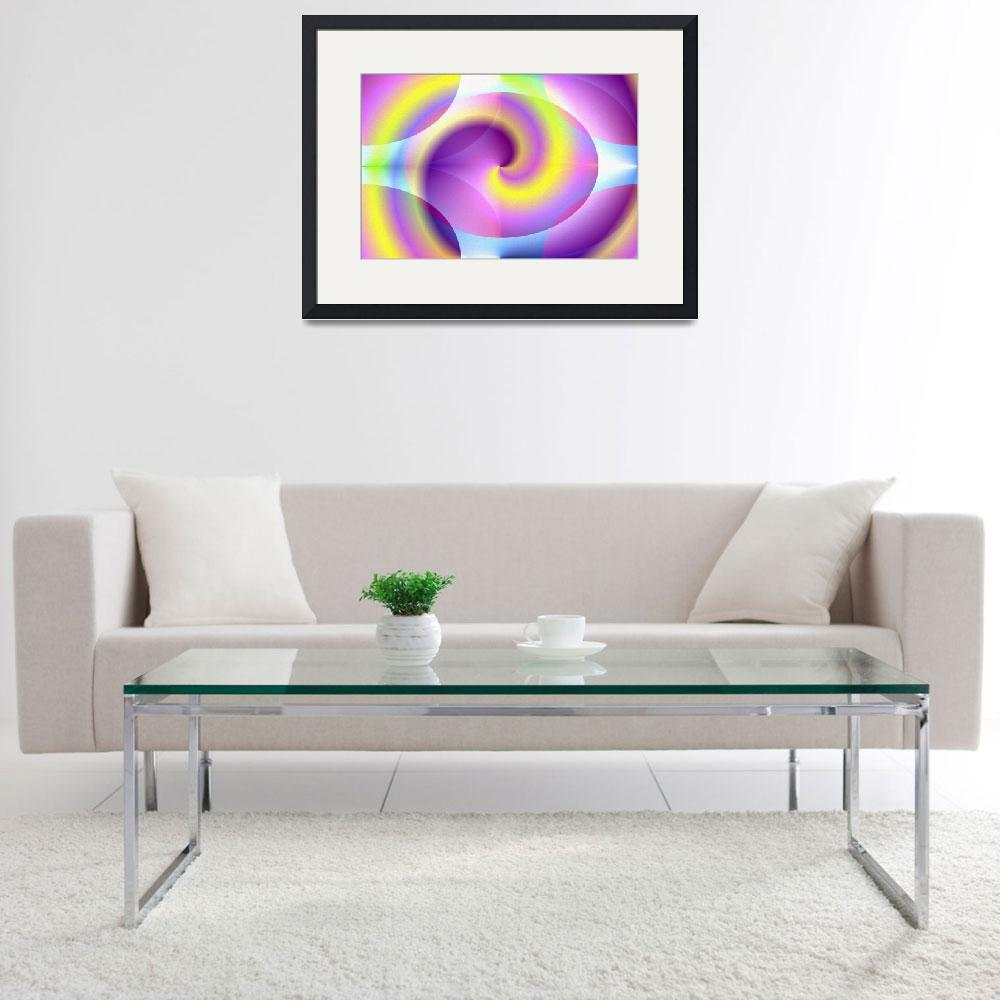 """spiral-digital-print&quot  (2009) by the-creative-artist"
