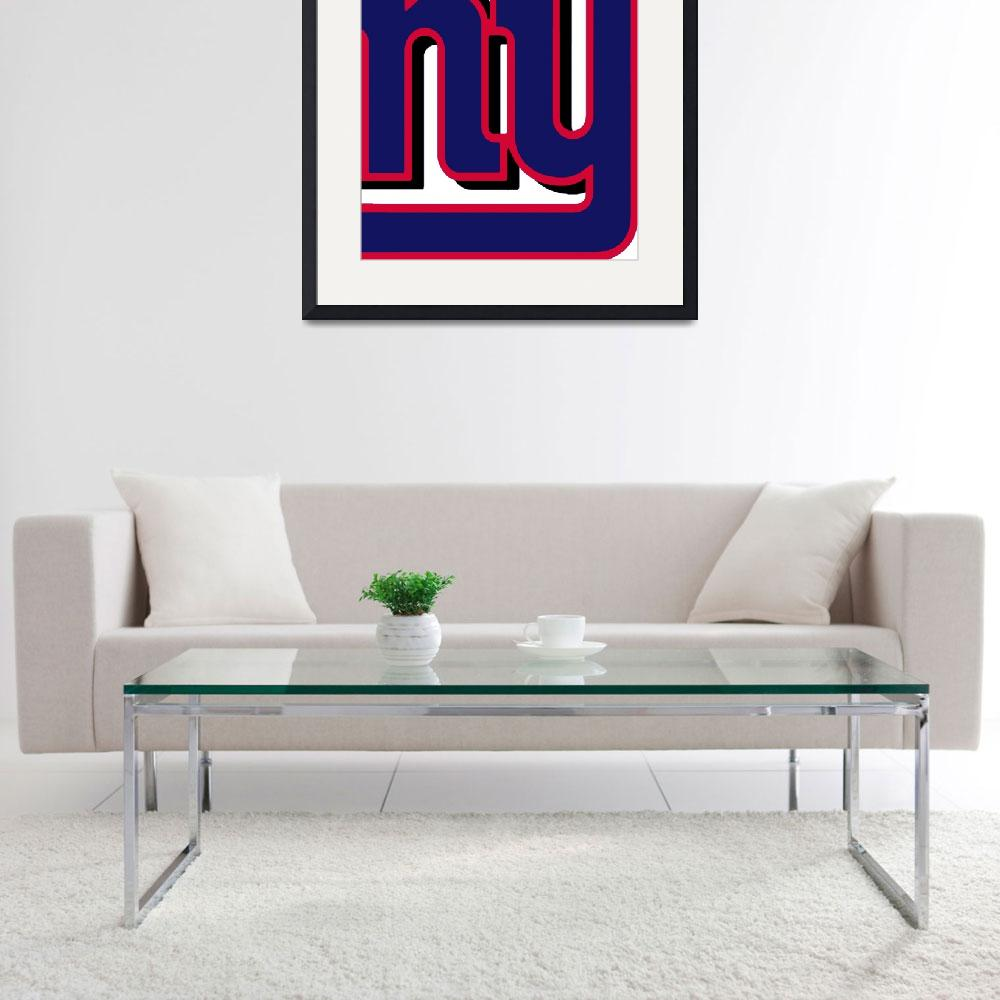 """New York Giants Football 2&quot  (2013) by RubinoFineArt"