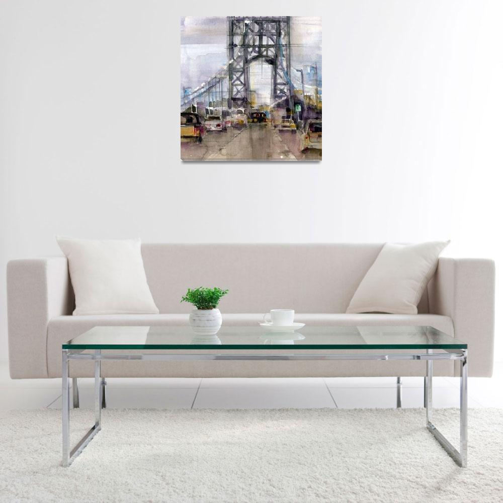 """George Washington Bridge&quot  (2011) by dfrdesign"