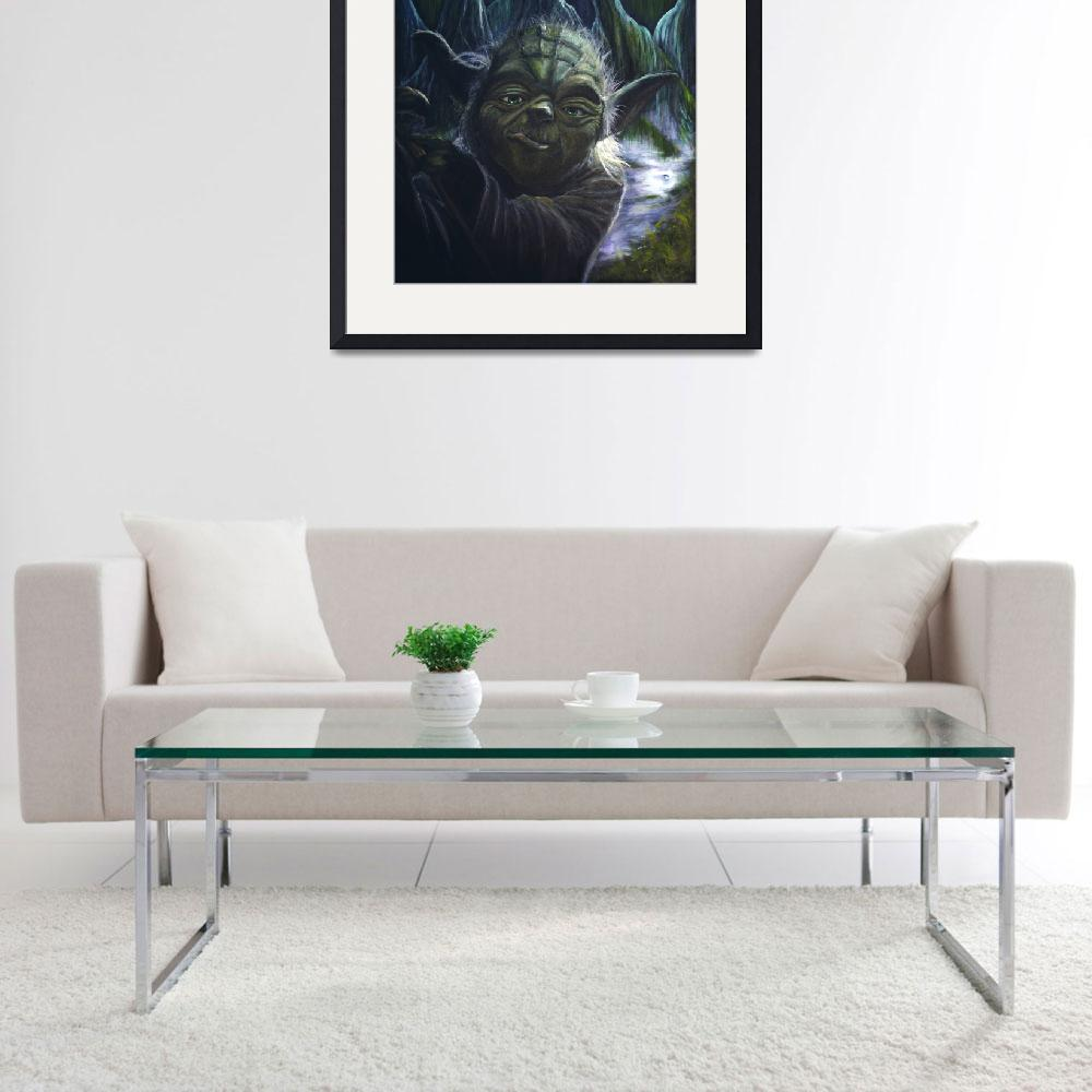 """Yoda&quot  (2013) by JamesKruseFineArt"