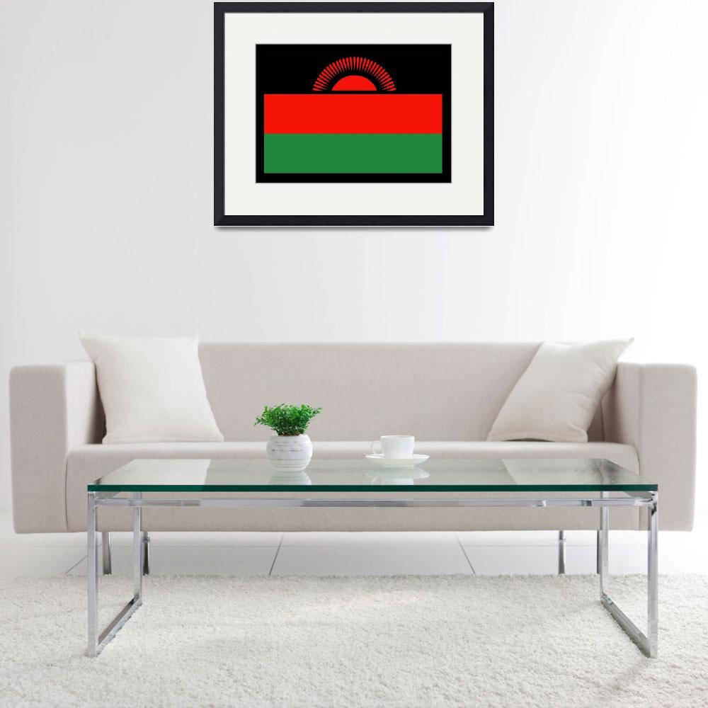"""Malawi Flag&quot  by KWGart"