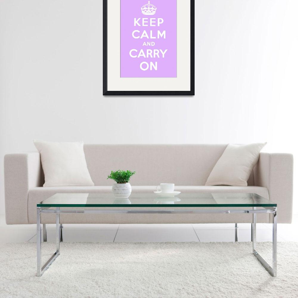 """Purple Keep Calm And Carry On 4&quot  by oldies"