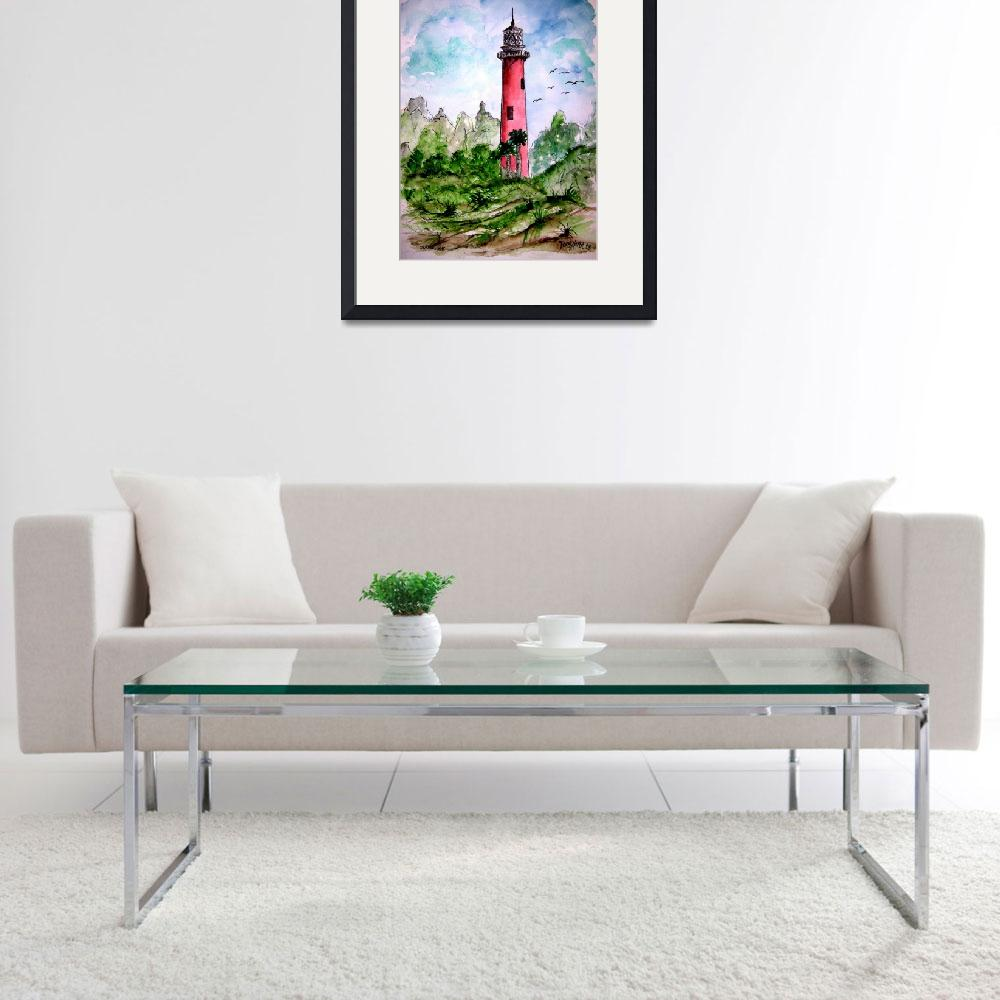 """jupiter lighthouse florida collectible print&quot  (2008) by derekmccrea"