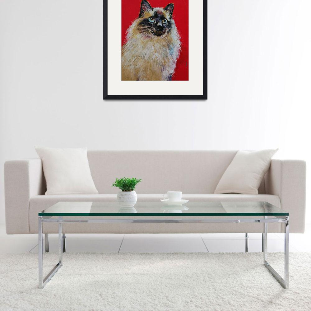 """Siamese Cat Portrait&quot  by creese"