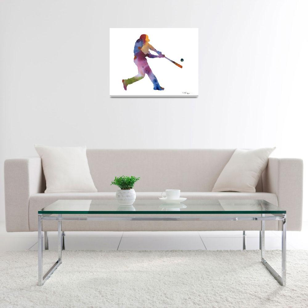 """Baseball Player&quot  (2016) by k9artgallery"