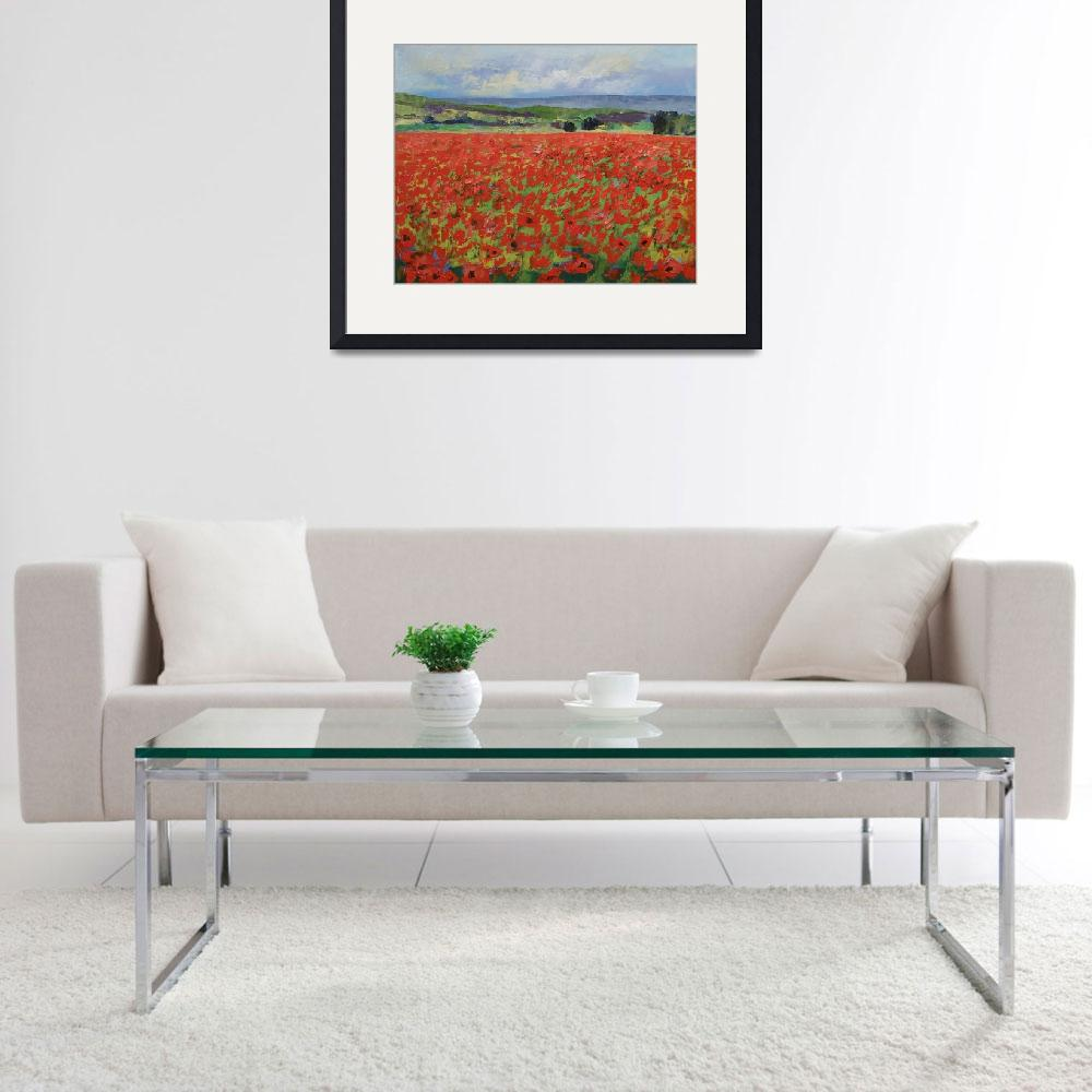 """Red Oriental Poppies&quot  by creese"
