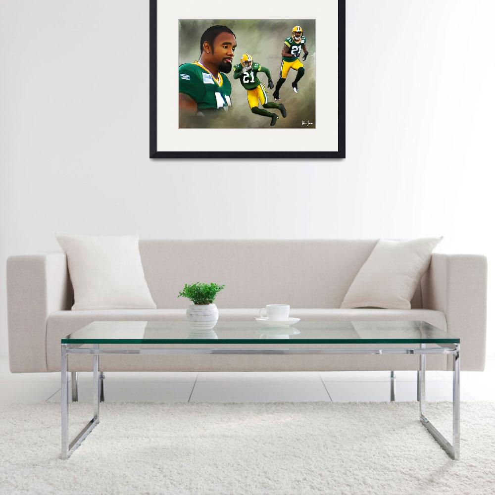 """Charles Woodson Painting&quot  (2011) by Lemonjello"