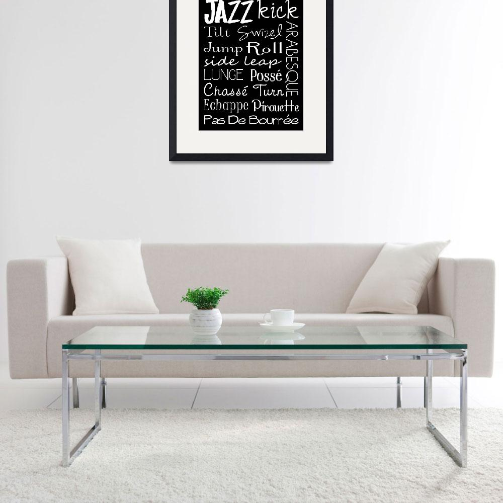 """Jazz Dance Subway Art  Poster&quot  (2012) by designsbyjaime"