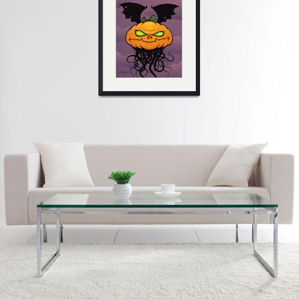 """Pumpkin Monster&quot  (2009) by schwegel"