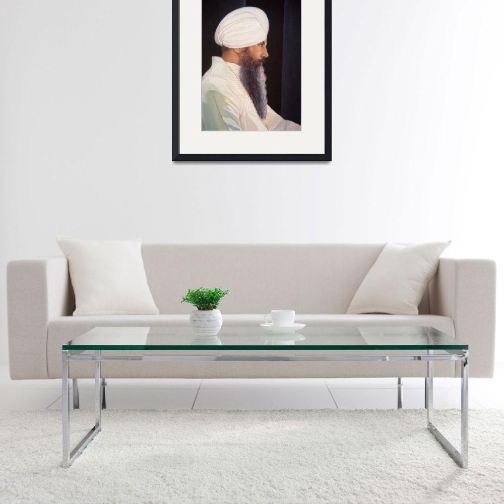"""Siri Singh Sahib - Painting&quot  by SikhPhotos"