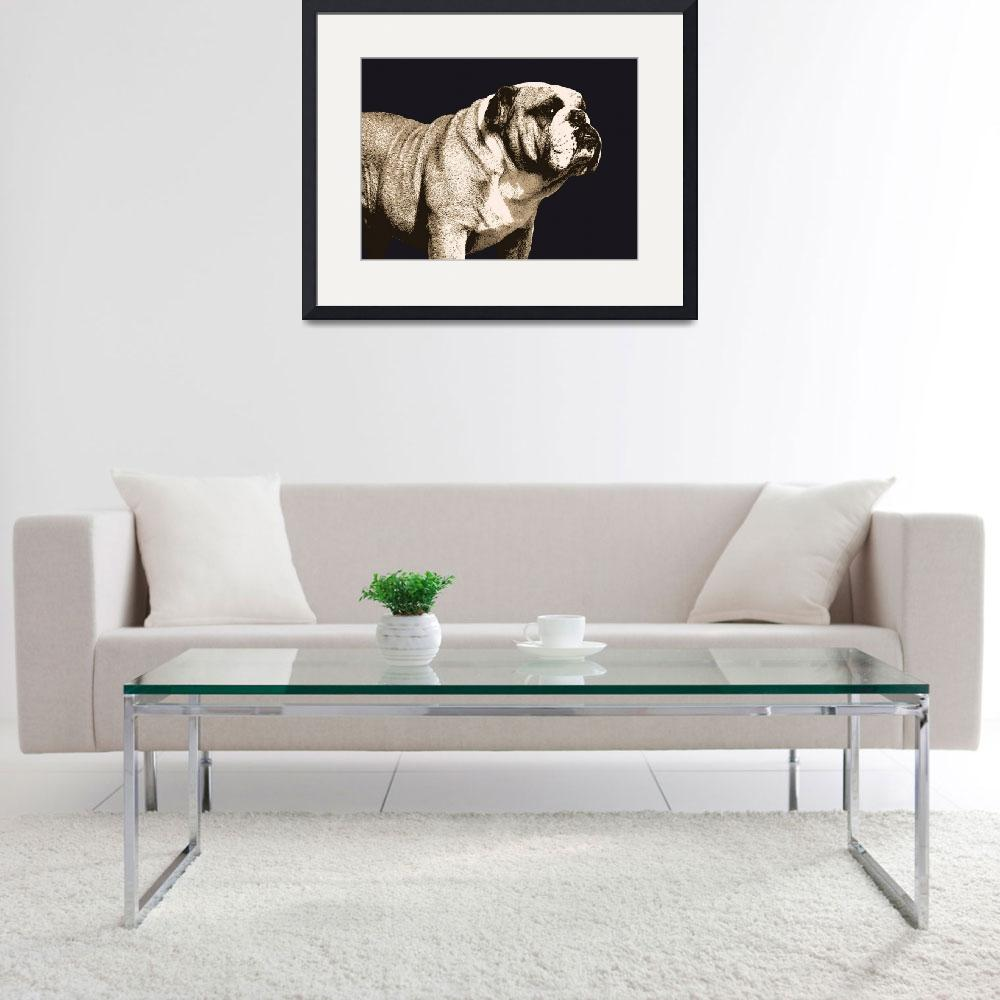 """Bulldog Spirit&quot  (2009) by ModernArtPrints"