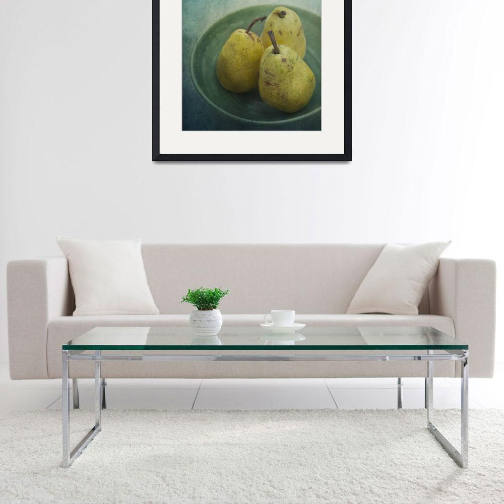 """pears in a square&quot  by Piri"