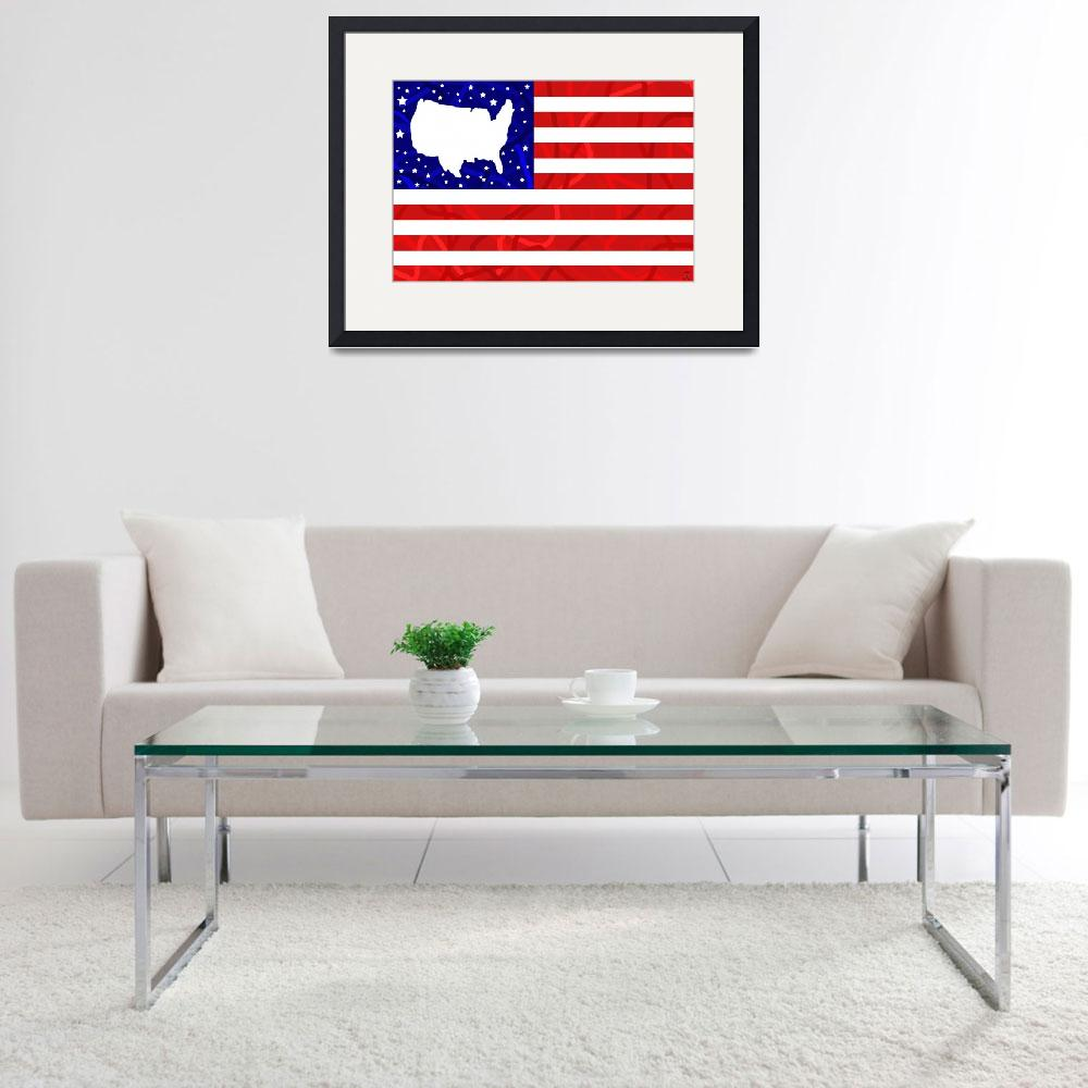 """U.S.A Dream Flag&quot  (2010) by ADDesigns"