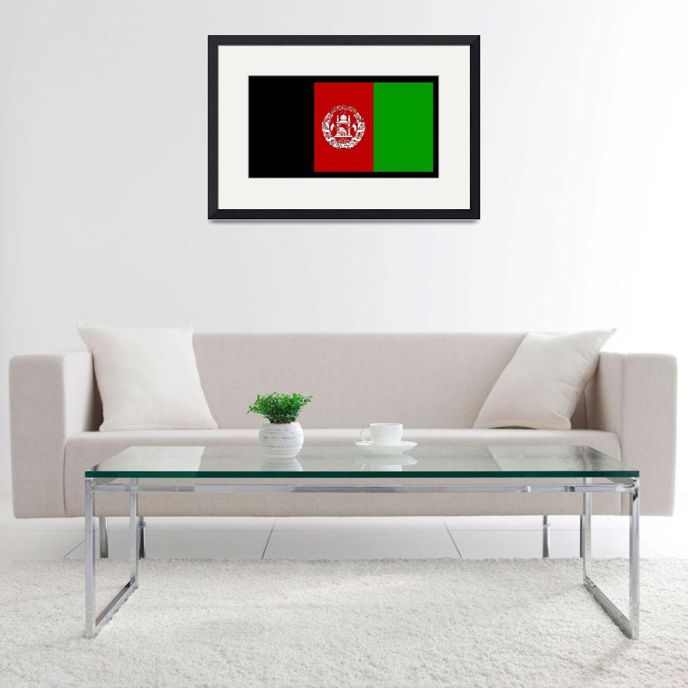 """Afghanistan Flag&quot  by KWGart"