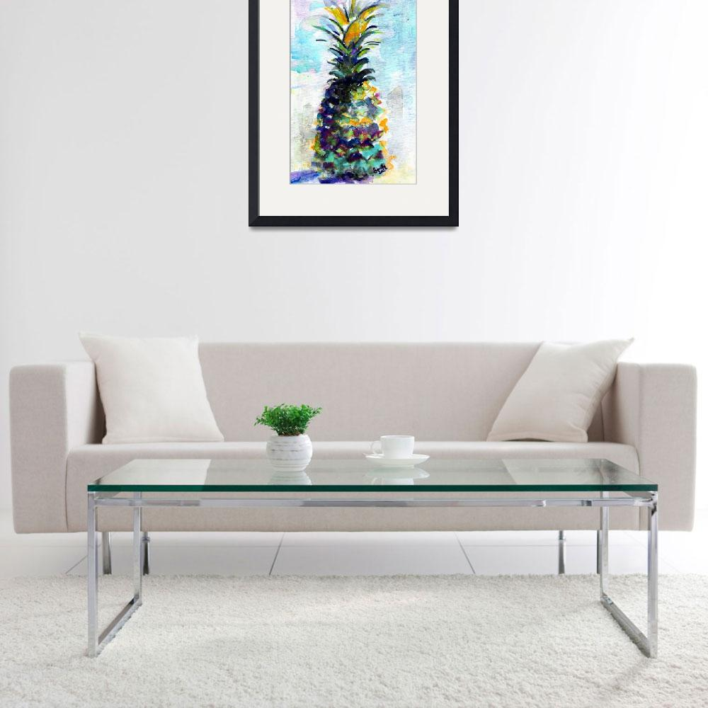 """Blue Pineapple by Ginette&quot  (2015) by GinetteCallaway"