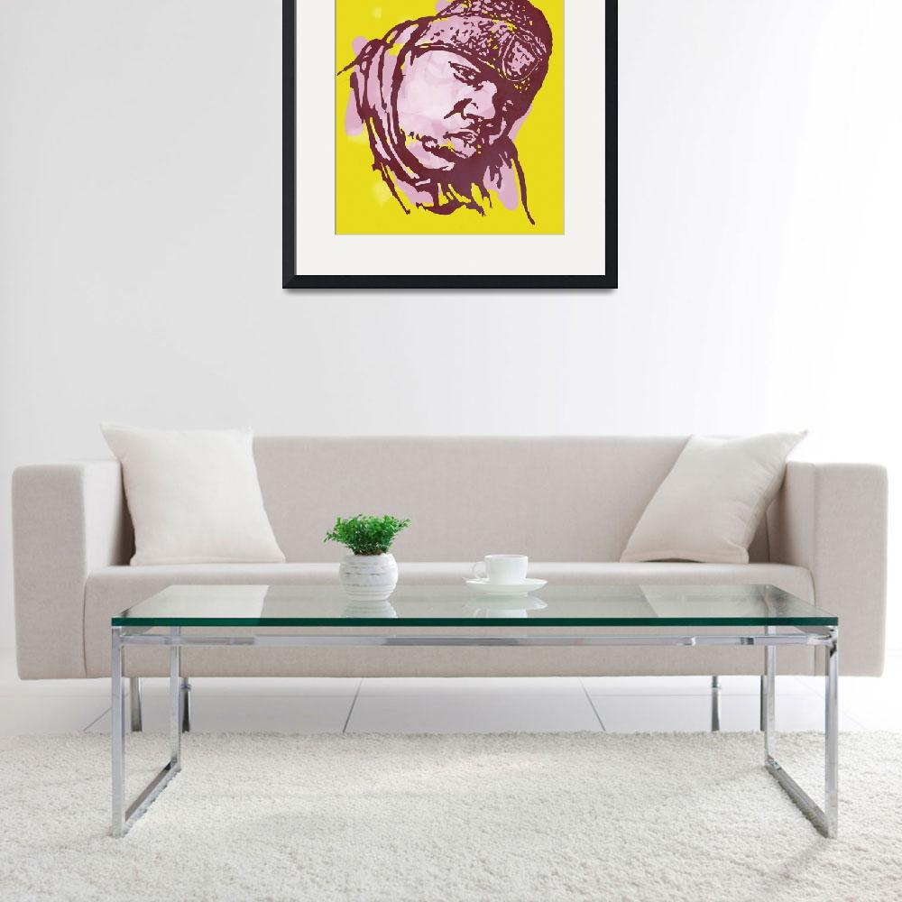 """Biggie Smalls Modern Etching Art Poster&quot  (2014) by visualharbour"