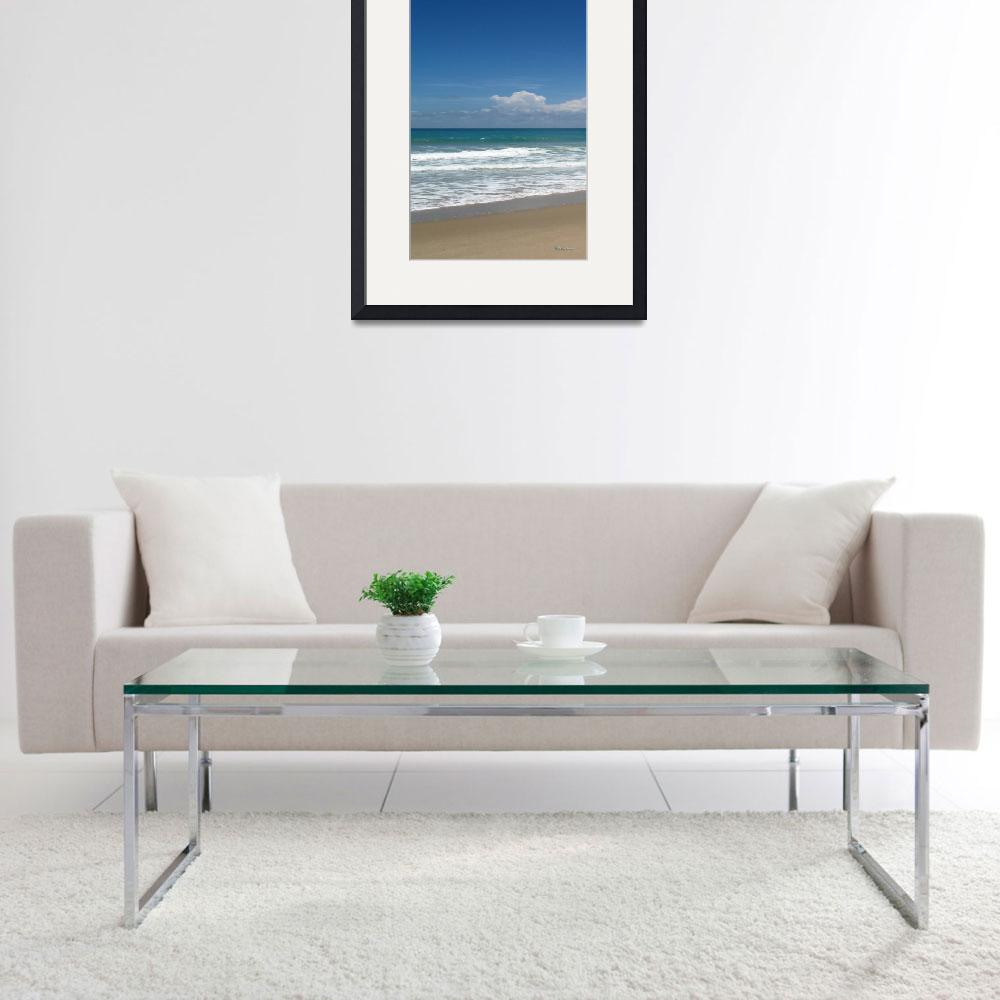 """Treasure Coast Beach Seascape C4 Triptych L&quot  (2015) by Ricardos"