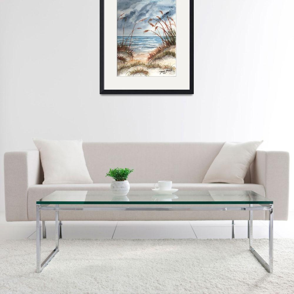 """dunes seascape beach print&quot  (2006) by derekmccrea"