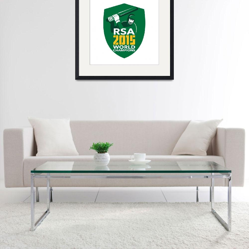 """South Africa Cricket 2015 World Champions Shield&quot  (2015) by patrimonio"