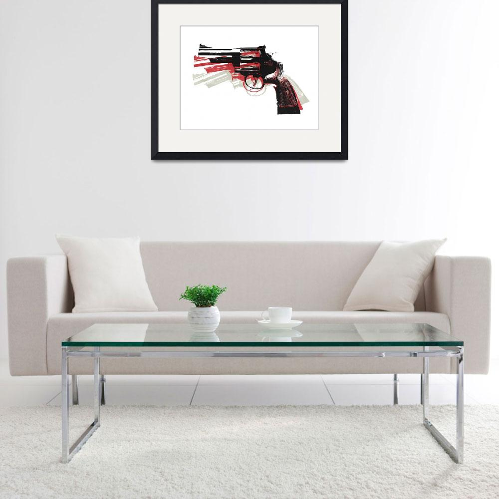 """Revolver on White&quot  (2010) by ModernArtPrints"