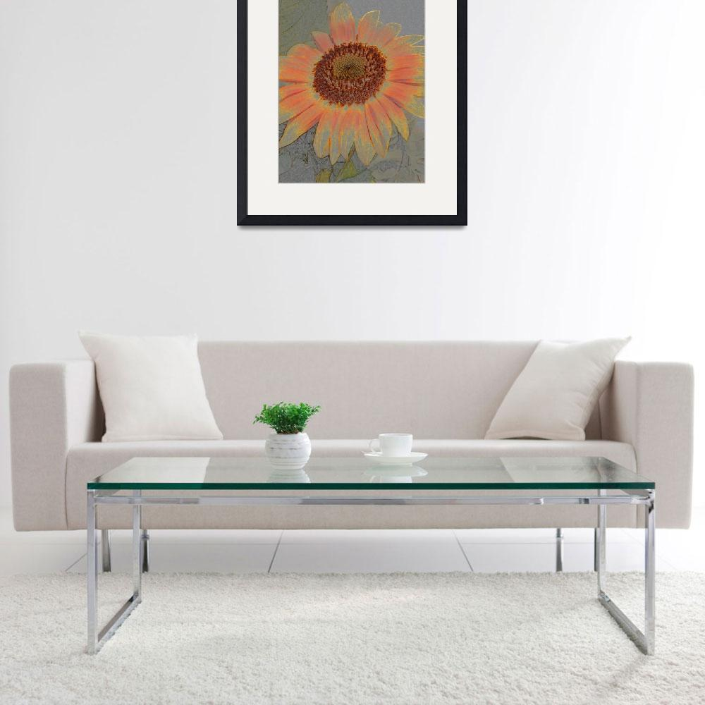 """Pastel Sunflower&quot  (2008) by jodipflepsen"