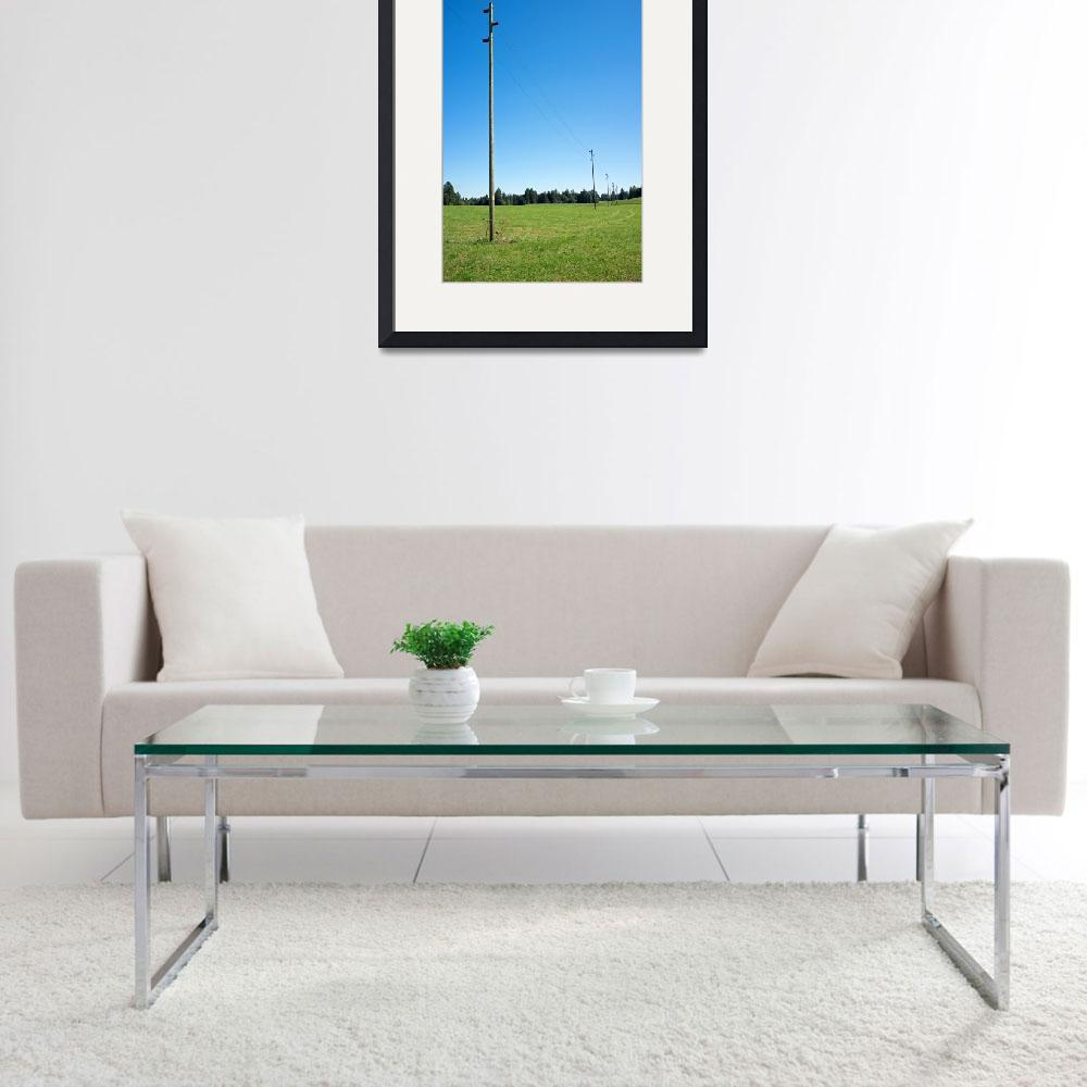 """Electricity piles on a green field&quot  (2015) by sascha"