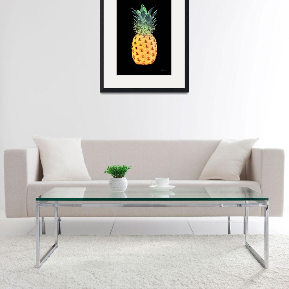 """14r Artistic Glowing Pineapple Digital Art&quot  (2016) by Ricardos"