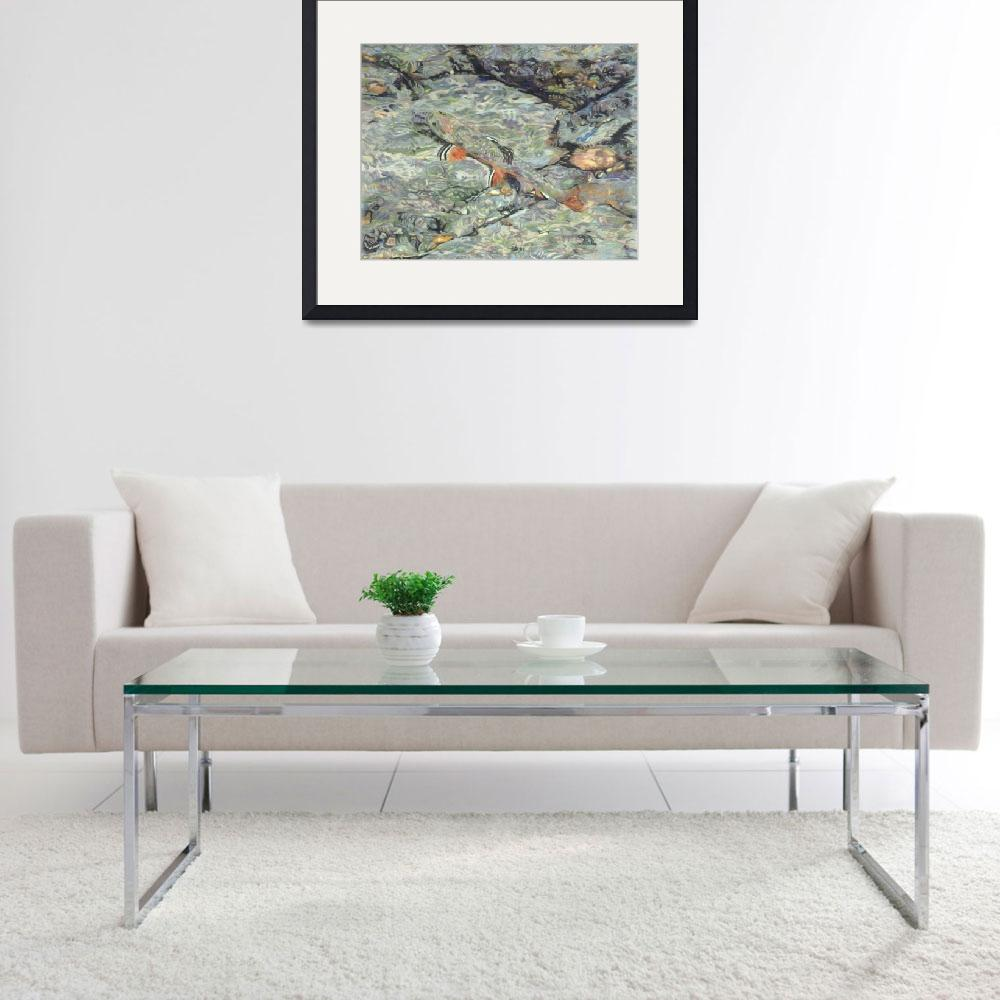 """Fine Art Prints Trout Water Brook Trout Fish Art&quot  (2008) by BasleeTroutman"