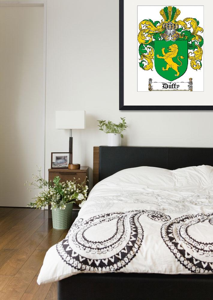 """DUFFY FAMILY CREST - COAT OF ARMS&quot  by coatofarms"