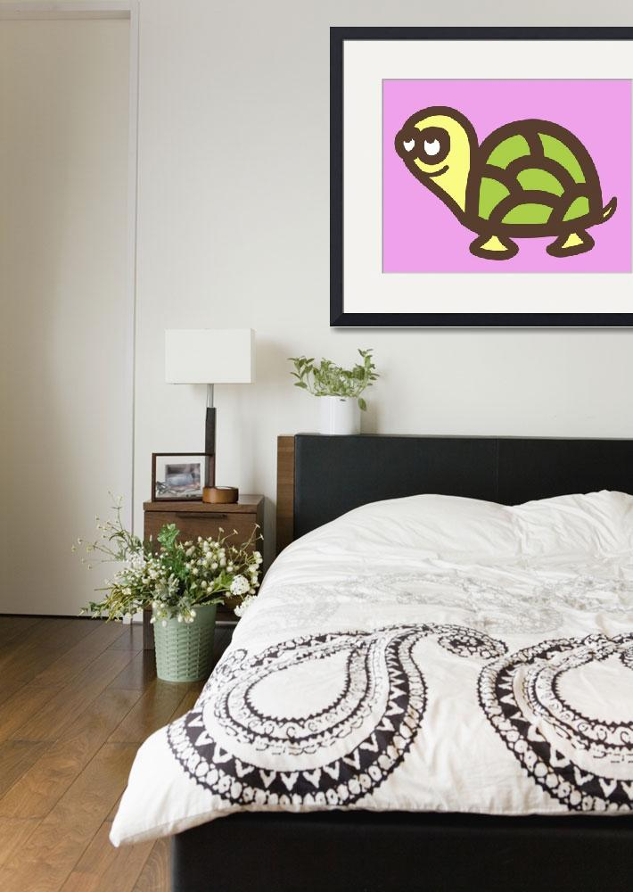 """Nursery art- baby turtle&quot  (2013) by nursery-art"