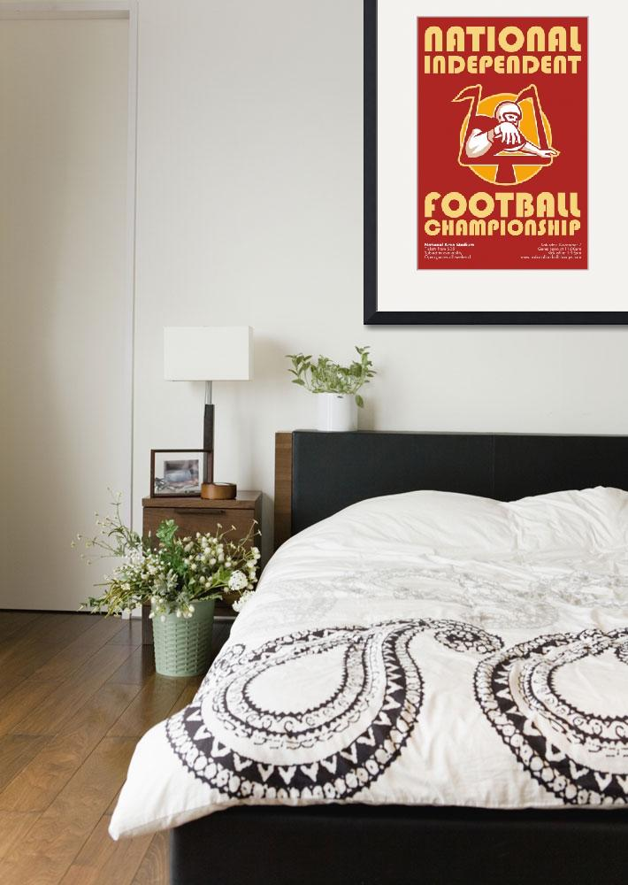 """American Football Championship Poster Art&quot  (2013) by patrimonio"
