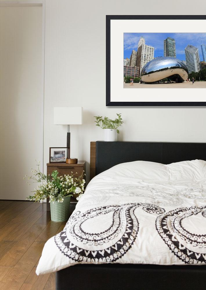 """Chicago Bean and Skyline&quot  (2012) by Ffooter"
