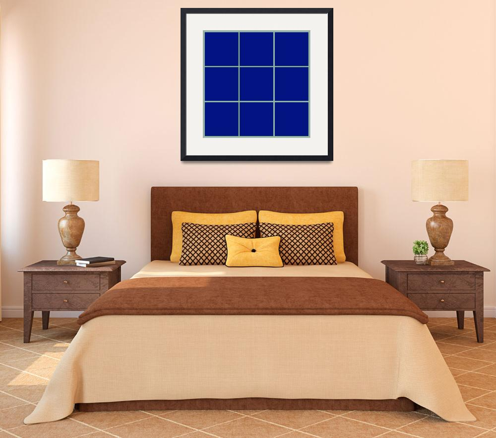 """Blue Window 105 Canvas Contemporary Modern&quot  (2010) by Ricardos"