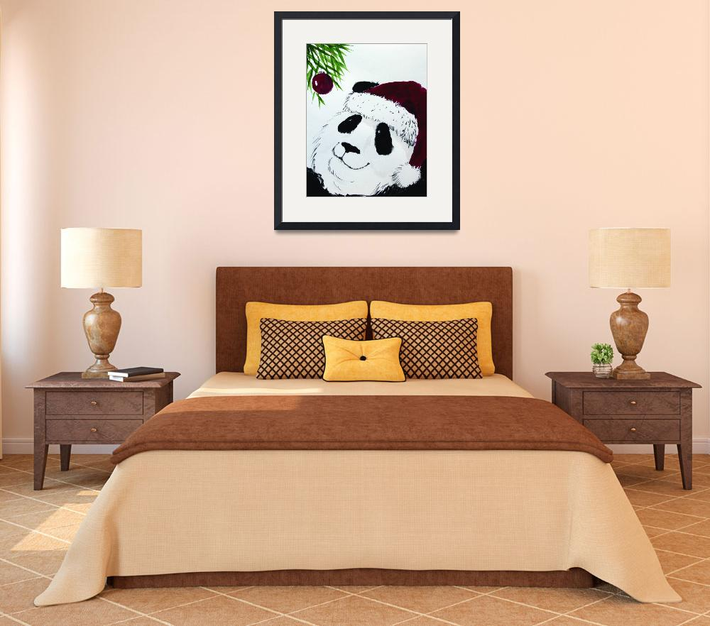 """panda_claus_jolly&quot  (2010) by gbensonart"