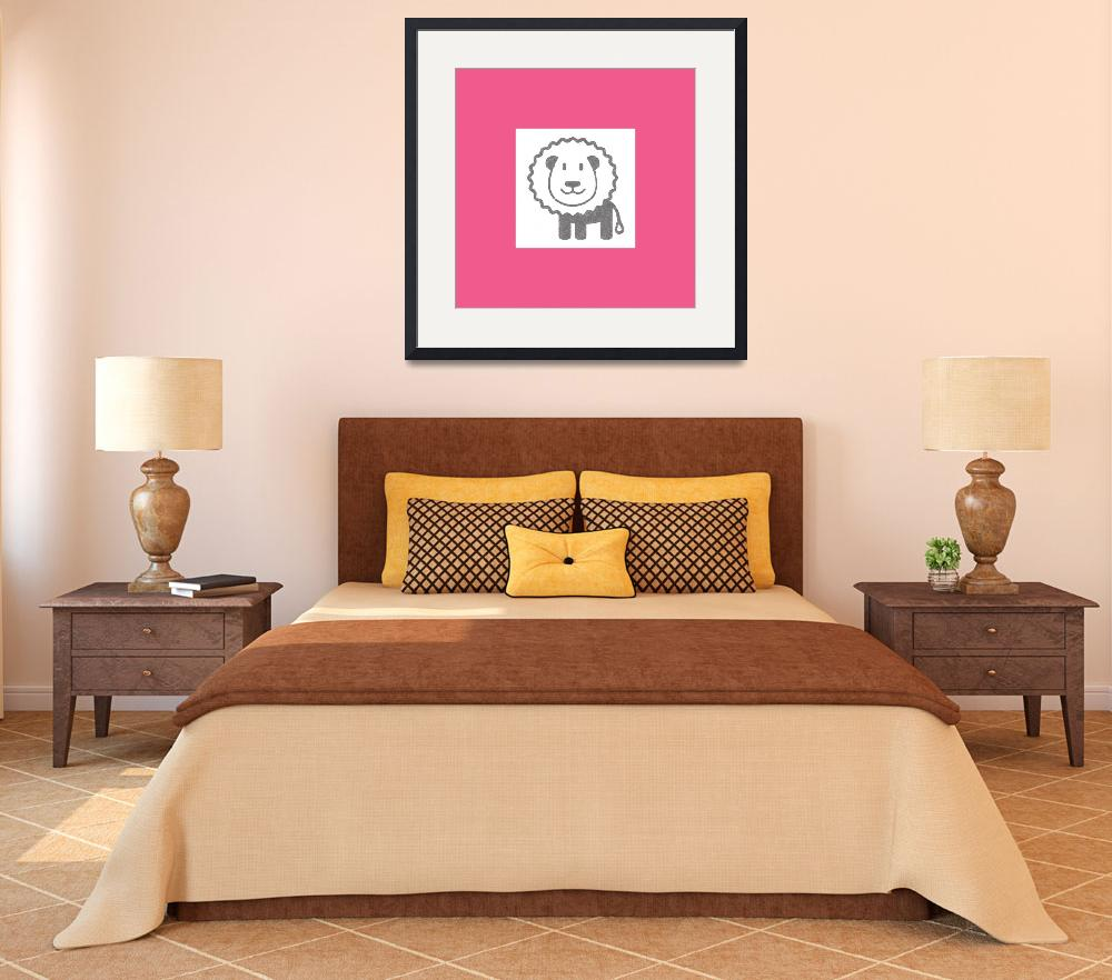 """Lion for Kids Room&quot  (2014) by ZapBrand"