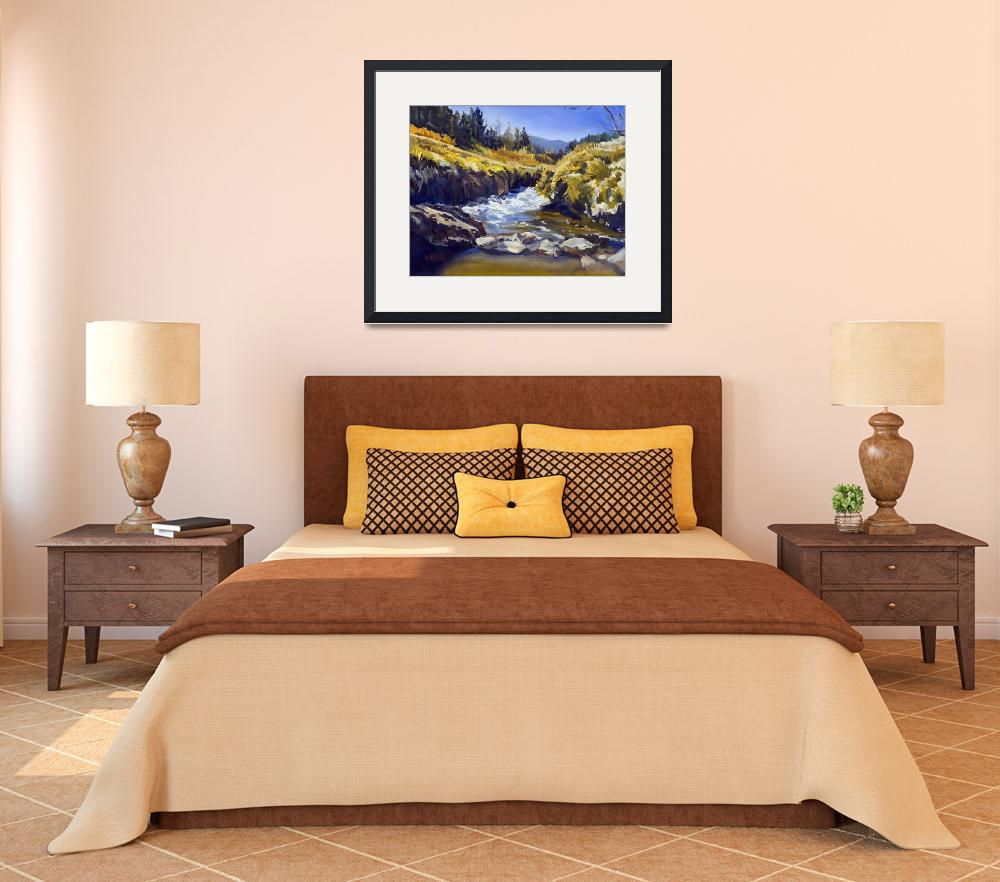 """Warren Keating CALIFORNIA MOUNTAINS Fine Art Print&quot  (2005) by KeatingArt"