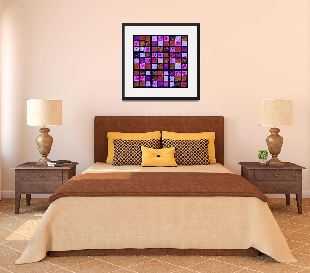 """Sudoku Abstract Violet Orange&quot  (2012) by KsWorldArt"