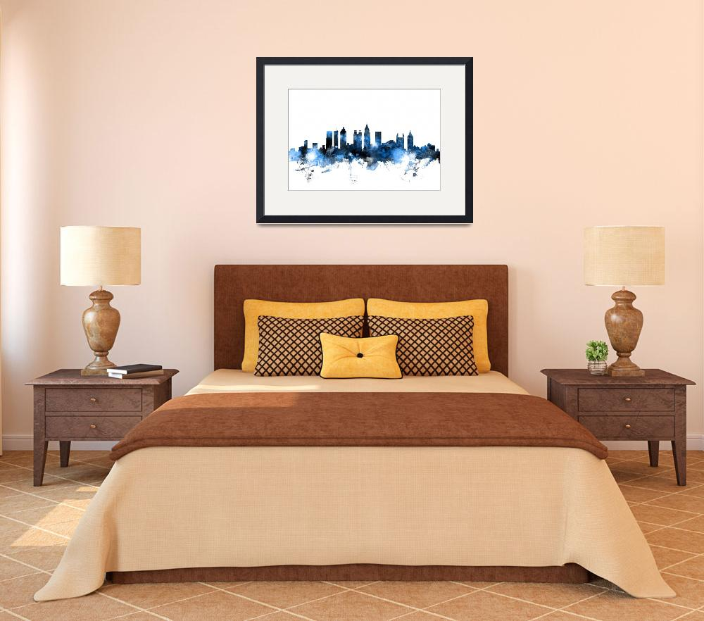 """Atlanta Georgia Skyline&quot  (2015) by ModernArtPrints"
