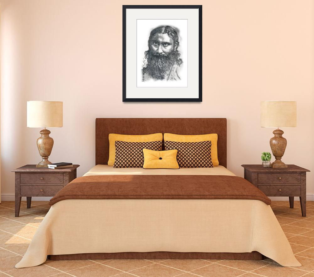 """Hand Drawn Portrait of Hazrat Inayat Khan&quot  by CreativeArtisticNuance"