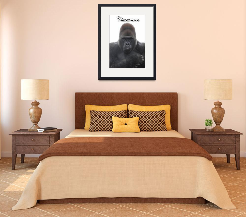 """Gorilla Western Lowland 000&quot  (2012) by beautifulprints"