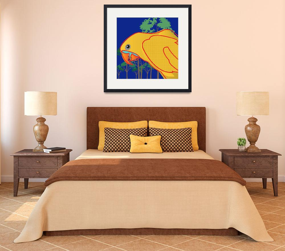 """Golden Conure&quot  (2009) by PacoDozierGraphics"