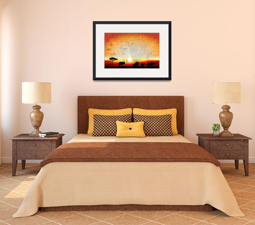 """Old World Africa Warm Sunset&quot  (2010) by Art_By_Design_Studio"