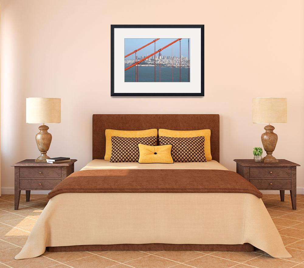 """San Francisco Through The Golden Gate Bridge 7D145&quot  by wingsdomain"