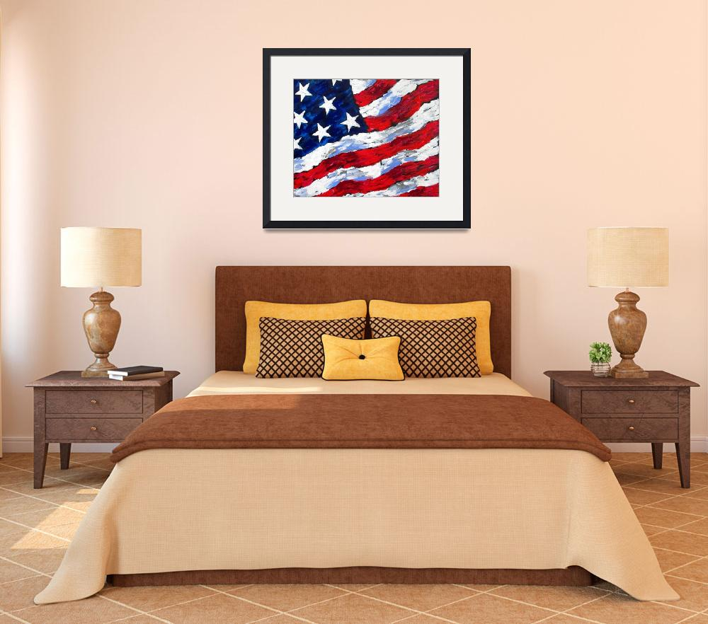 """USA Flag&quot  (2013) by galina"