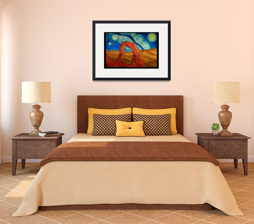 """Van Gogh Style Delicate Arch&quot  (2012) by Artpixie"