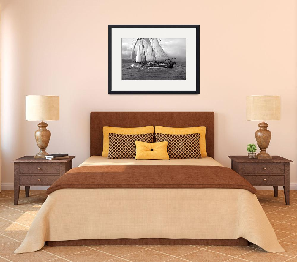 """Rendition of Schooner Pride Of Baltimore ll Approa&quot  by McallenPhotography"
