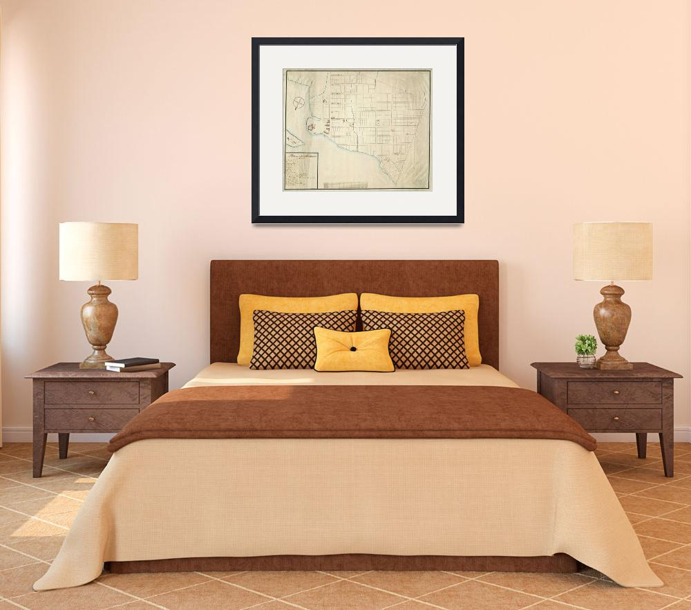 """1750 Christiansted St. Croix map&quot  by ArtistiquePrints"